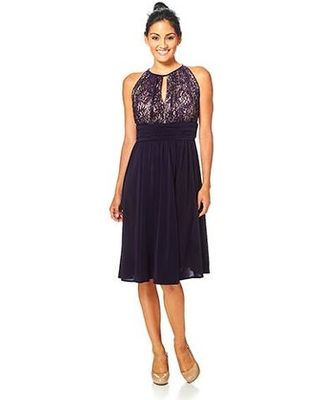 Negro T12 $81 Jessica H  RM Richards Sequined Lace Bodice Dress