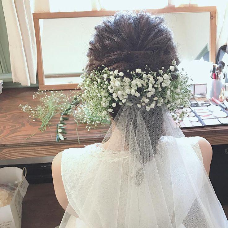 ウェディングベールを着けたブライダルヘアの写真は撮り忘れ注意 | marry[マリー]
