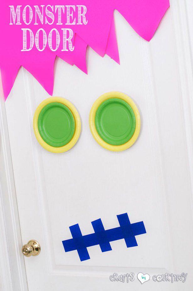 Halloween Craft: Spooky Door: Indoor Halloween Monster Door Idea