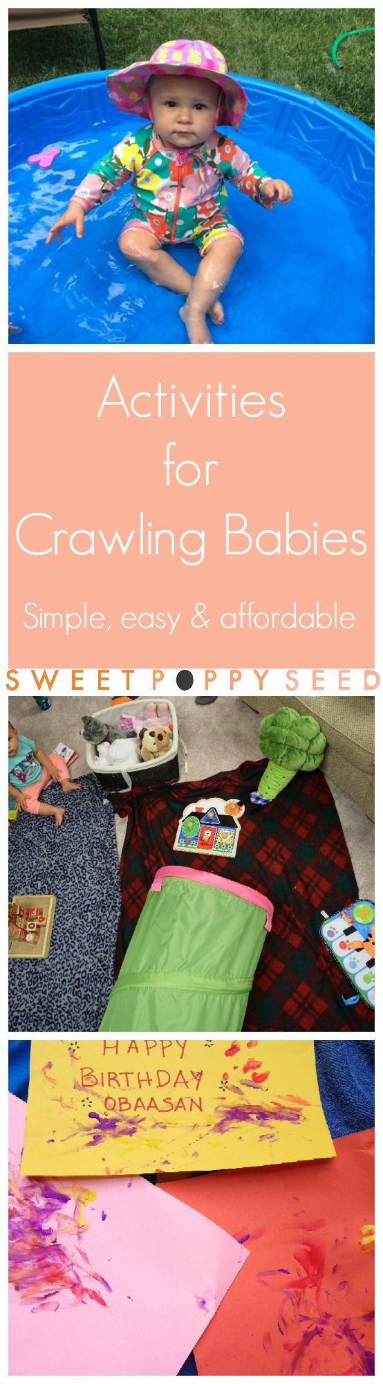 Have no fear, there are definitely lots of fun and creative activities for your crawling buddies! Here are our 13 favorite ones!