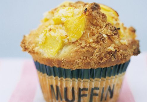 Mango Coconut Crumble Muffins