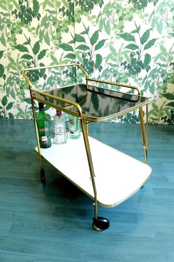 Chariot de thé Cocktail chariot desserte chariot Bar par GLOWUP …