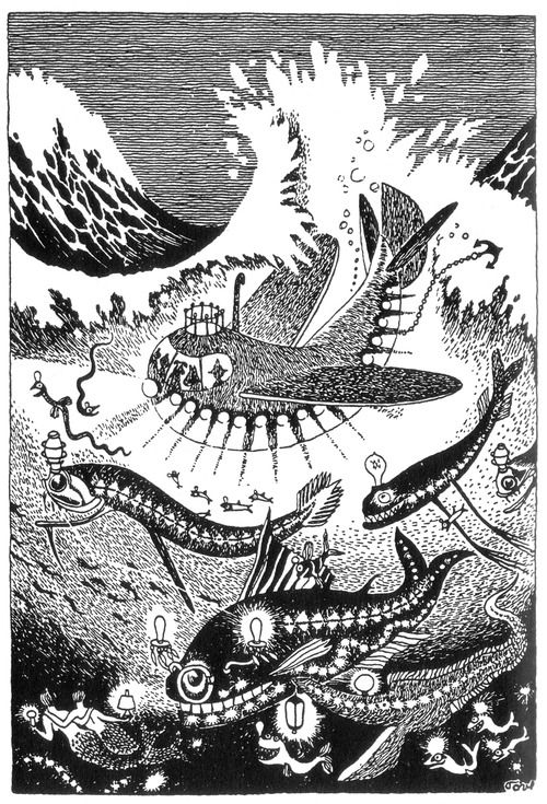 Moomin illustration by Tove Jansson...