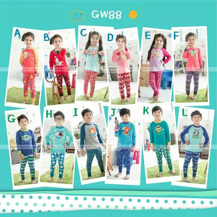 GW88 LONG PAJAMAS (BORDIR) SIZE 95-140 FOR 2Y TO 7Y