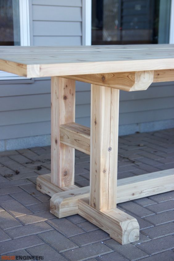 H Leg Dining Table