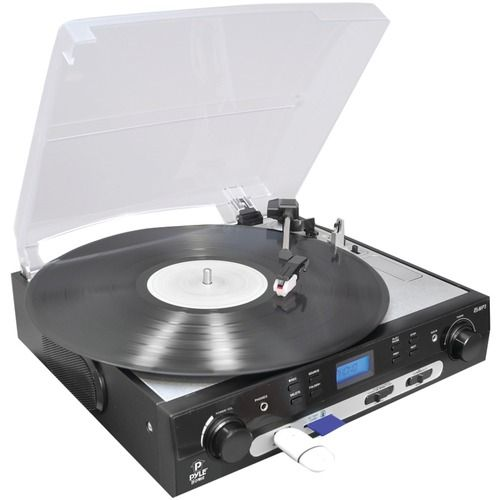 Pyle Home Usb Turntable With Direct-to-digital Usb And Sd Card Encoder