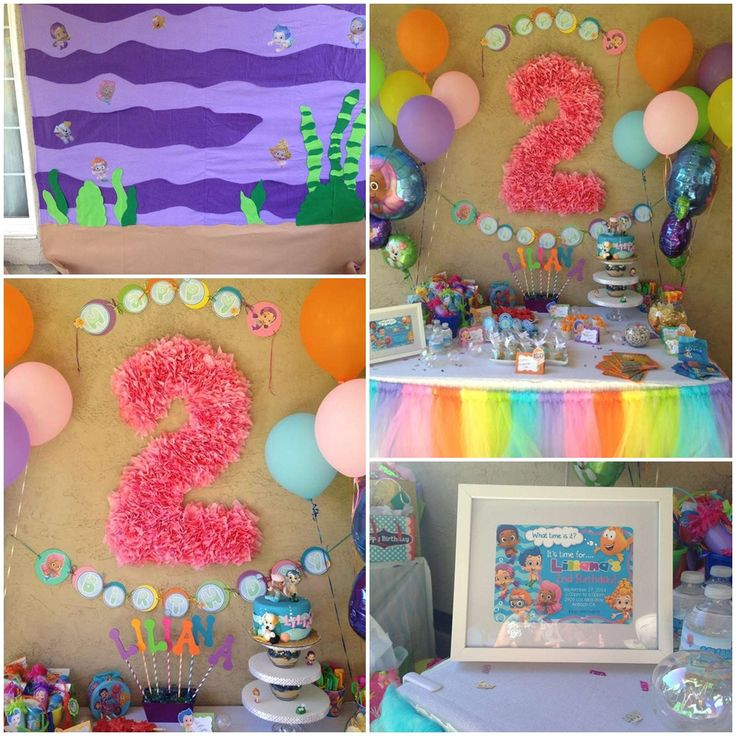 Bubble Guppies Themed Birthday Party Ideas Bubble Guppies 2nd Birthday  Partyu2026