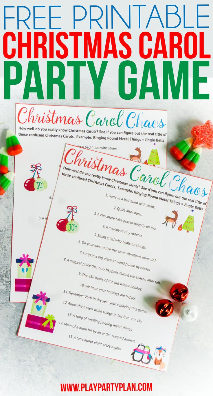 It is a graphic of Refreshing Christmas Carol Game Printable