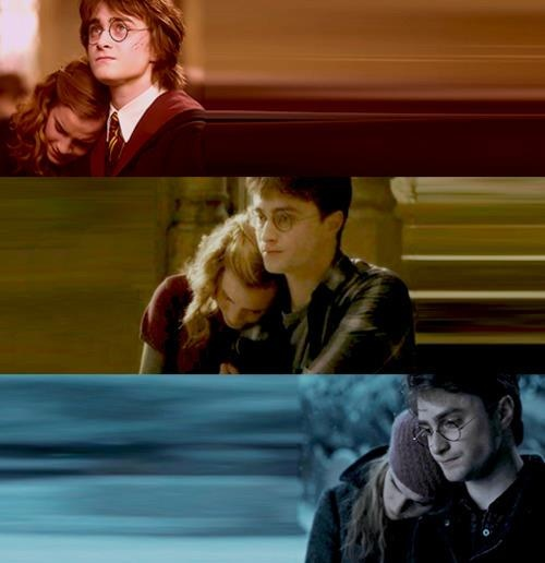 :*( harry is hermione's shoulder to cry on...such a good friend :)