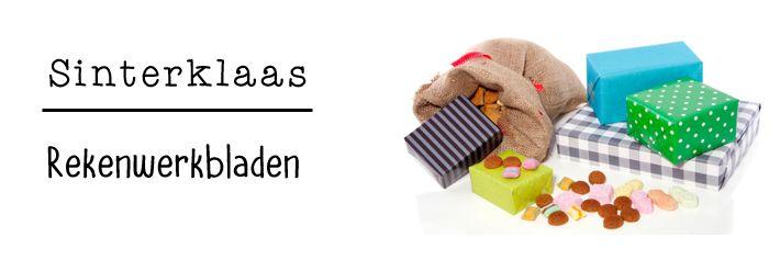 JufShanna: Thema Sinterklaas - werkbladen tellen en splitsen