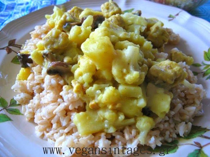 !Βίγκαν Συνταγές!: Κουνουπίδι και πατάτες με κάρυ