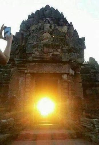 The first rays at sunrise strike the principal entrance of Sun Temple at Konarak, Odisha, India #Konark temple of #Odisha.