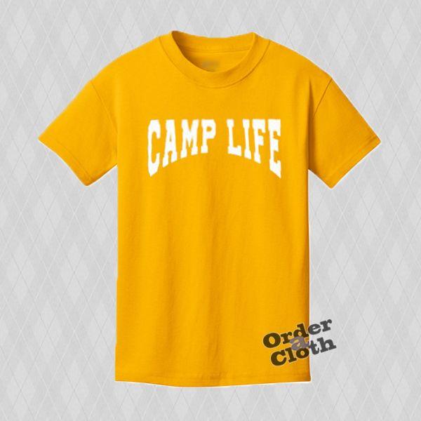 Yellow Camp Life T-shirt