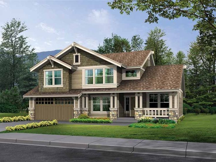 Craftsman House Plan with 2407 Square Feet and 4 Bedrooms from Dream Home Source | House Plan Code DHSW52581