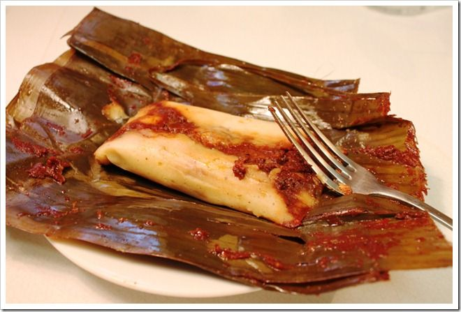 Banana leaf wrapped tamales! Yummmm!