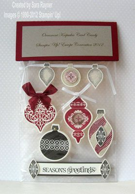 Sara's Crafting & Stamping Studio: 2012 Convention Card Candy Swap
