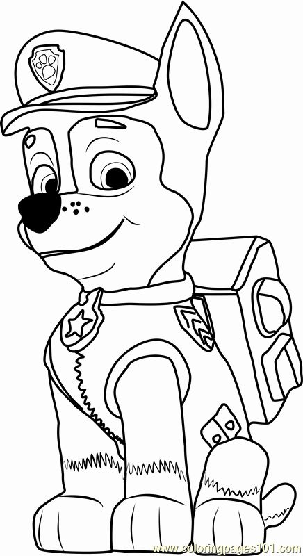 32 paw patrol chase coloring page  paw patrol coloring