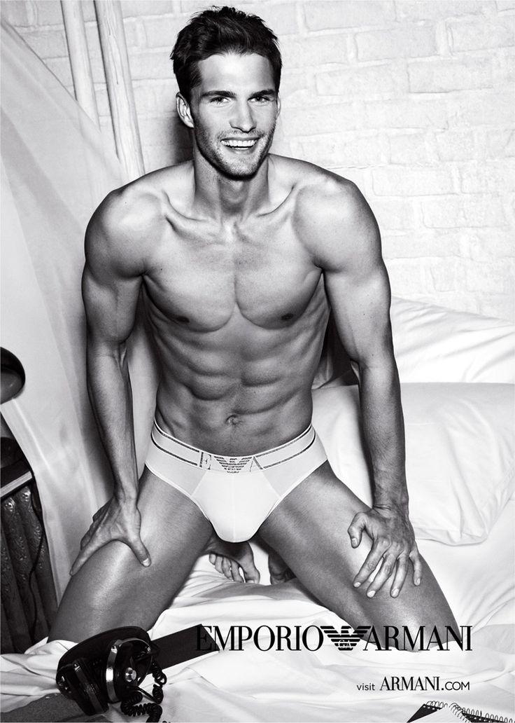 Tomas Skoloudik Strips Down for Emporio Armani's Spring/Summer 2012 Underwear Campaign