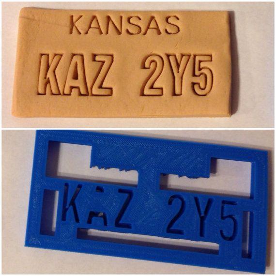 Supernatural Deans Impala Kansas License Plate Cookie by BoeTech, $9.00