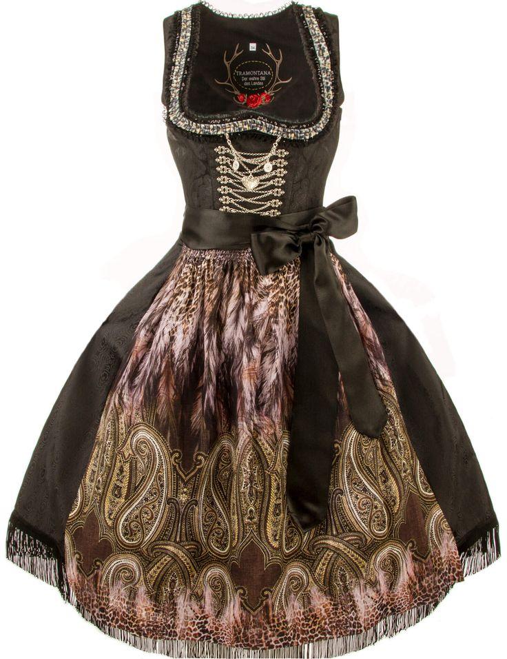 Vintage Das moderne Tramontana Dirndl Arya ist besonders festlich in edlem Schwarz Kaufen Sie festliche Dirndl