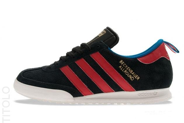 adidas Originals Beckenbauer - Black / University Red - Uniform Blue