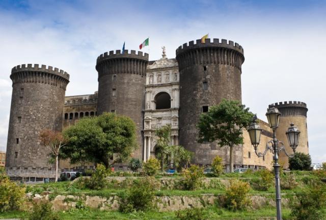 Casual castel in Napoli, Italy