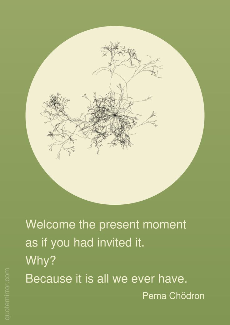 Welcome the present moment as if you had invited it. Why? Because it is all we ever have. –Pema Chödron http://quotemirror.com/s/ytovy #now #present