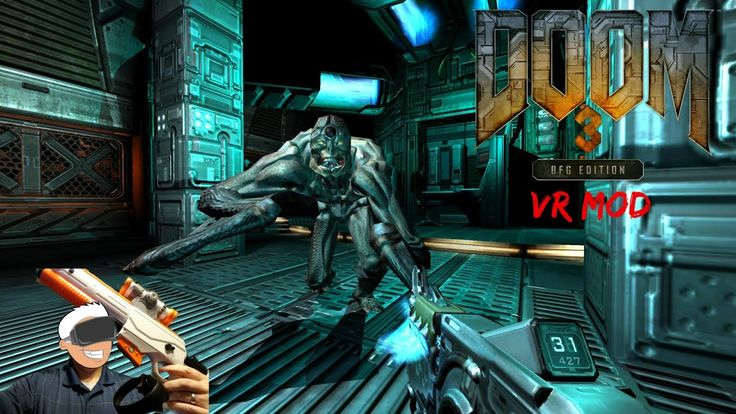 Testing My Touch Shot Elite Gun MOD In Doom 3 BFG VR MOD With The Oculus Rift  Touch