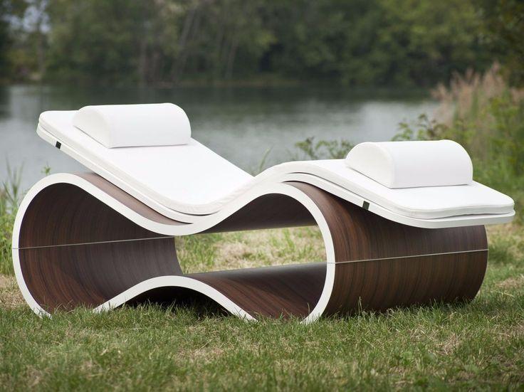 Lounge chair WHITE MAMBA by CARMENTA