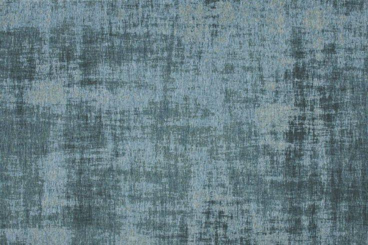 Geweven vintage vloerkleed in Turquoise (effen) kleurstelling - Floorpassion