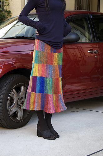 野呂スカ noro skirt(kureyon sock yarn skirt)