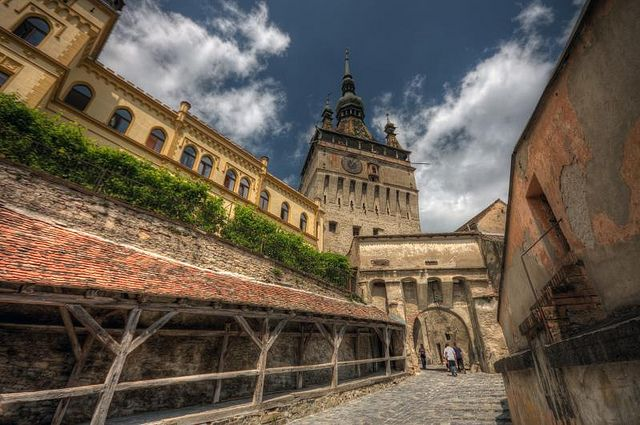 Sighișoara is a popular tourist destination for its well-preserved walled old town. The landmark of the city is the Clock Tower, a 64 m-high tower built in the 13th century. It is today a museum of history.