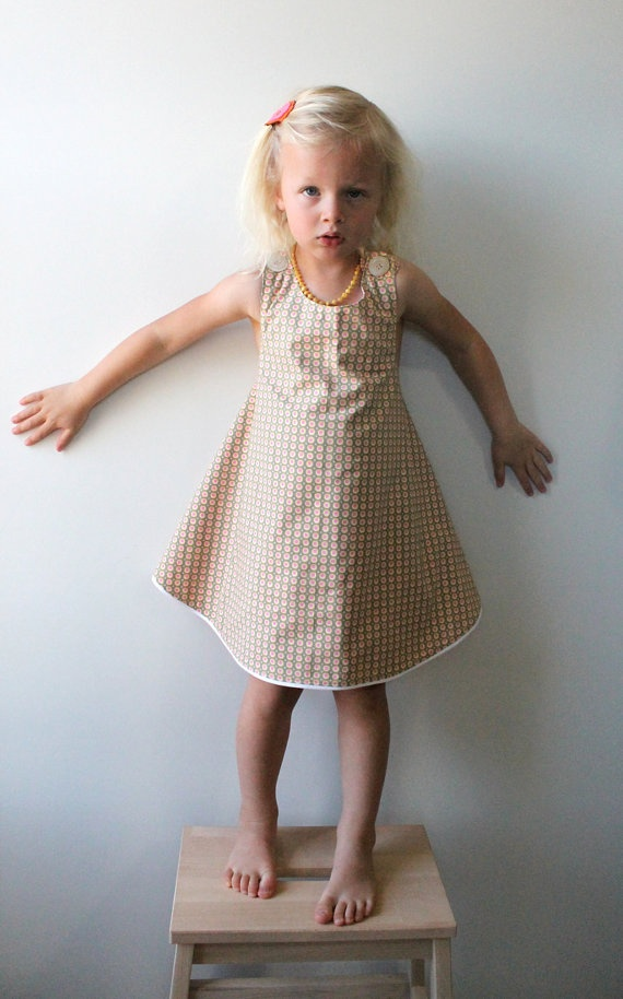 Toddler Girl Polka Dot Easter Spring Dress by MouseAndMeDesign, $40.00