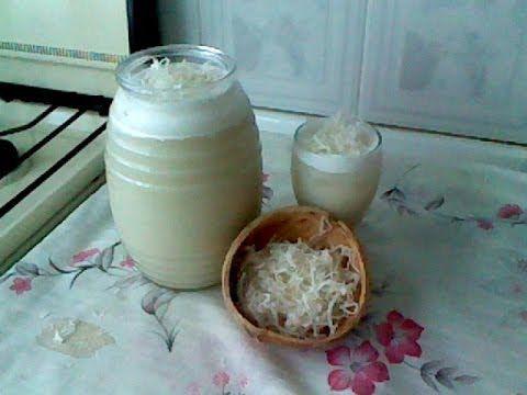 COMO PREPARAR AGUA FRESCA DE COCO/ CREMA DE COCO