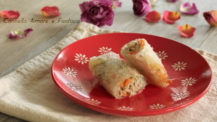 Involtini primavera come prepararli /Spring rolls how to make it
