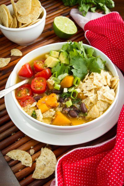 Black Bean, Sweet Potato, and Red Quinoa Soup by Oh She Glows
