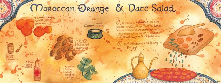 moroccan orange amp date salad by kim fleming they draw amp cook