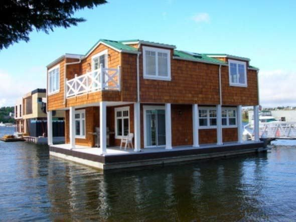 Best CASAS FLOTANTES Images On Pinterest Floating House Boat - Awesome floating house shore vista boat dock by bercy chen studio