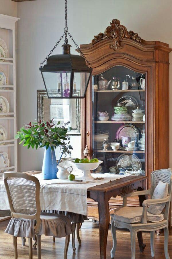 Gedeckter Tisch, Wohnraum, Decken, Inneneinrichtung, Esszimmer, Französisch  Esstische, Französisch Land Speise, Französisch Landhausstil, Französisch  Haus