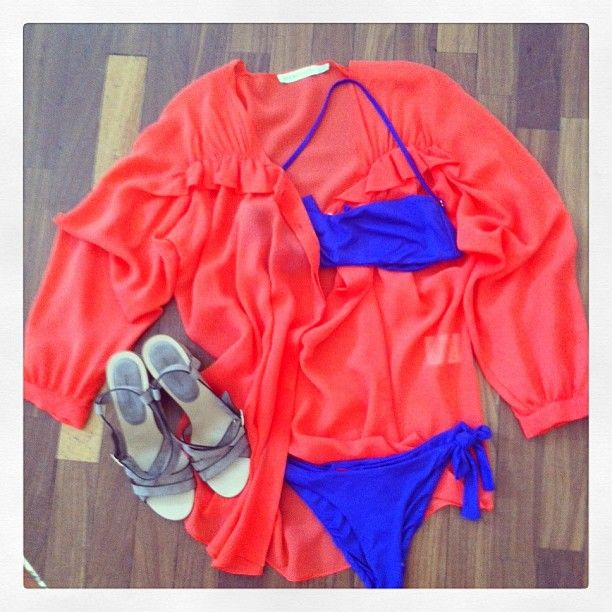 See by Chloe' blouse, Roberto del Carlo shoes, Vanda Catucci swimsuit