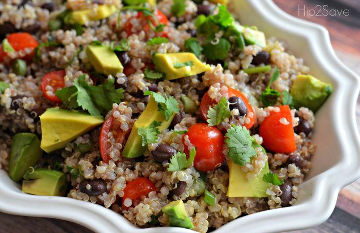 Recipe for Cilantro Lime Quinoa Salad. Definitely will make again.