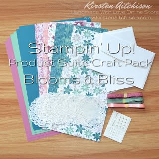 Kirsten Aitchison   Retired Stampin' Up! Product Suite Craft Packs   Click to find out more   #kirstenaitchison #productsuitecraftpack #craftpack #bloomsandbliss #designerseriespaper #dsp #ribbon #embellishments #crazycrafters #stampinup