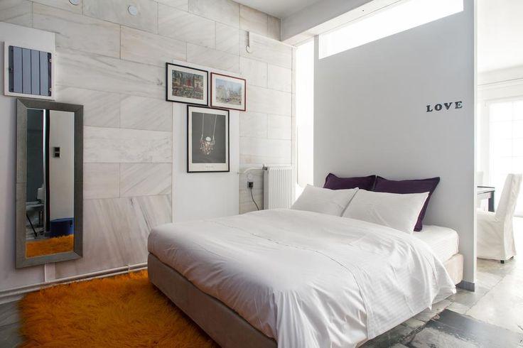 Kolonaki Art Gallery Suites in Athens. Luxury Luminous Atrium 110 sq.m. 2 Bdrs ArtGallery apartment !