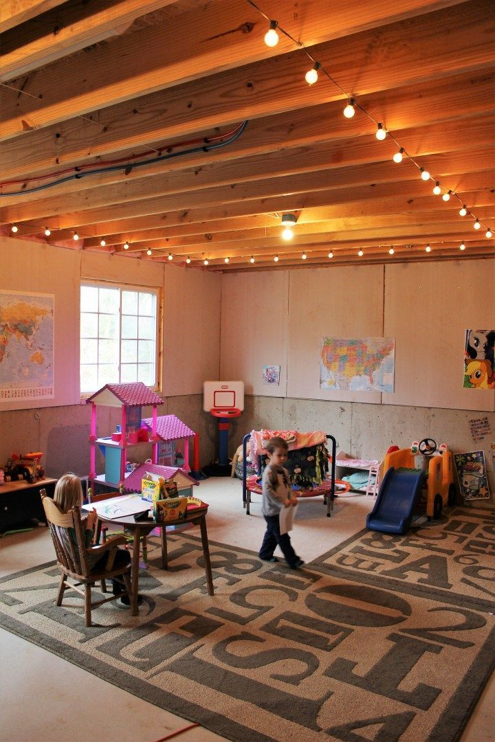 Clever Ways To Transform Your Basement Into A Cool Kids Playroom Get Inspired To Turn Your Basement Into In 2020 Basement Remodeling Cozy Basement Basement Makeover