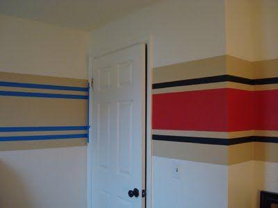 stripes in boys room small black stripes bordering a larger rh pinterest com