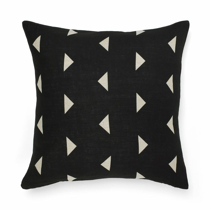 AURA Home, Winter 2014, Triangle Cushion in Black.