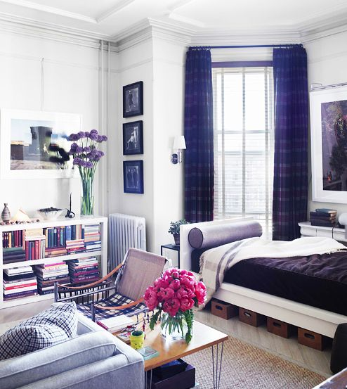 The Best Solutions for Maximizing Your Small Space// studio apartment: Houses Beautiful, Decor Ideas, Brooklyn Studios, Glue Guns, Studios Apartment, Apartment Ideas, Small Spaces, Studio Apartment, Spaces Design