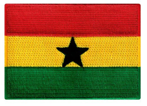 ghana flag shirt | Ghana Flag Embroidered Patch Africa Iron-On African National Emblem