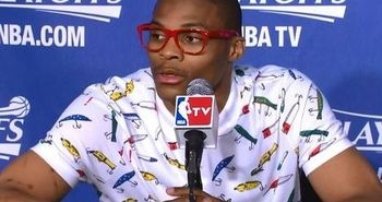Russell Westbrook Goes Hipster.: Thunder, Basketball, Fashion, Style, Nba, Russell Westbrook, Hipster Outfit, Shirt