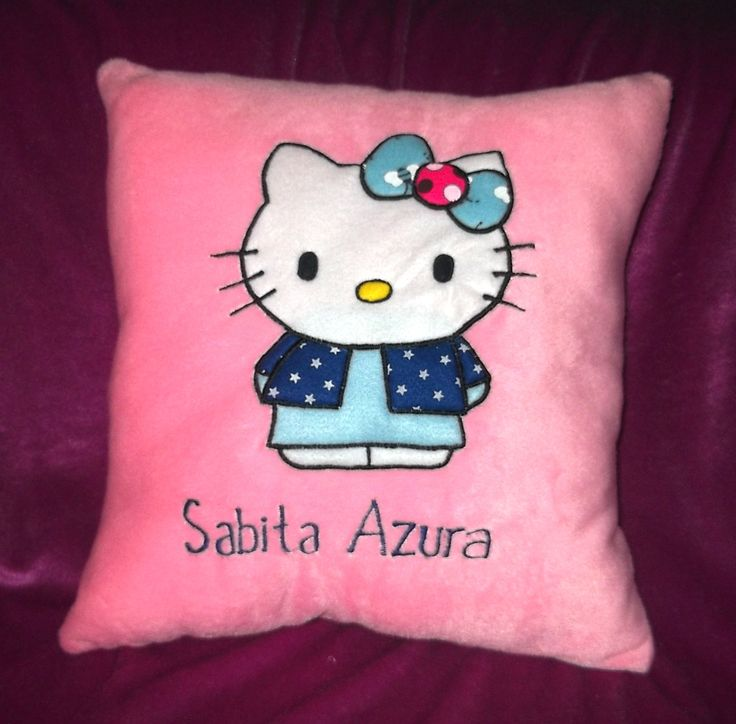 Funny Pillow Hello Kitty (Custom Pillow) #FunnyPillow #PinkVelboa #NamedPillow